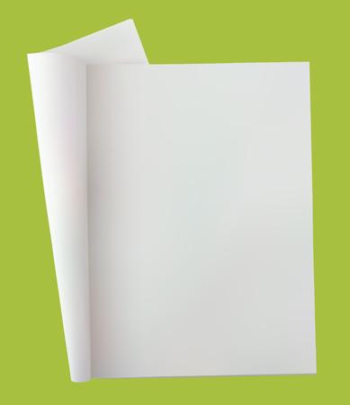 시뮬레이션: vector (with gradient mesh simulation of real object) image open blank (empty page) newspaper with copy space to put your own message or news