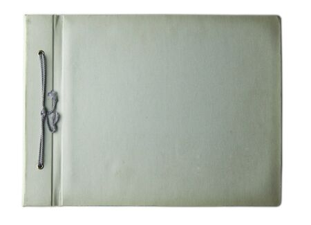 isolated fist page cover old worn-out photo album Stock Photo