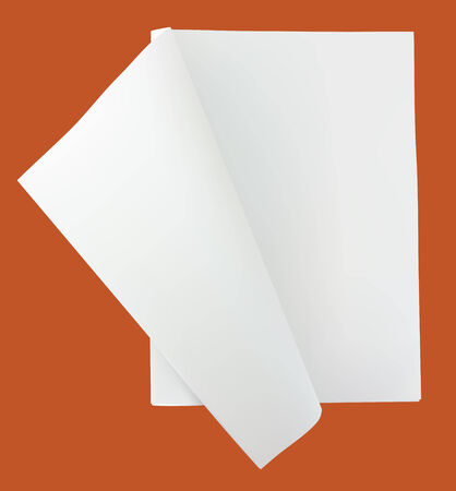 Unfolded blank newspaper; vector (with gradient mesh simulation of real object) image unfolded blank (empty page) newspaper with copy space to put your own message or news