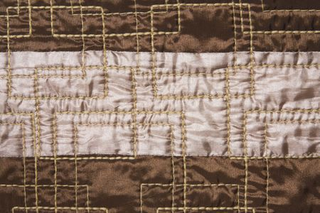 texture of silky smart quilted fabric photo