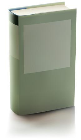 시뮬레이션: drawing of standing book with label on the wrapper, mesh gradient using