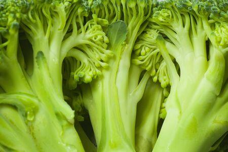 closeup broccoli inside