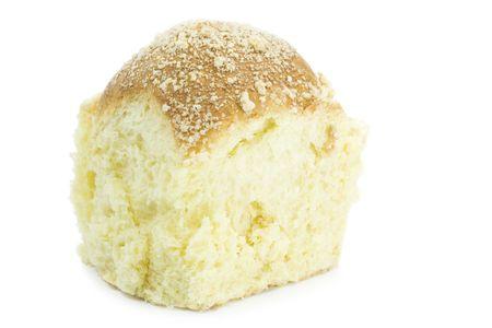 teacake: piece of teacake isolated on white background