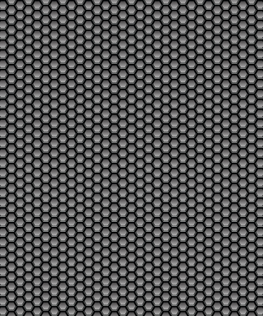 vector texture metal grill with hexagon hole Vector