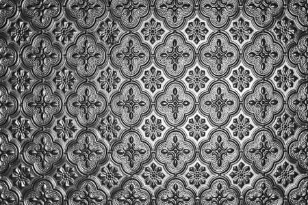closeup of silver glass repeating vintage pattern with vignette Stock Photo - 8519151