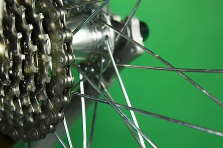 close-up of bicycle, gear photo