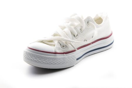 single white sneaker isolated on white background Stock Photo - 16847365