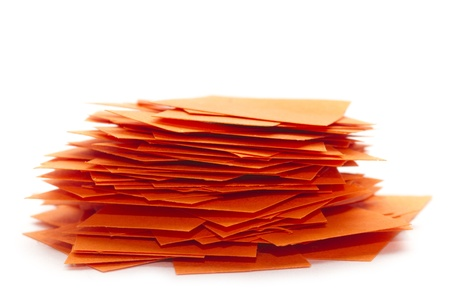 pile of paper scrap isolated on white Stock Photo - 17956123