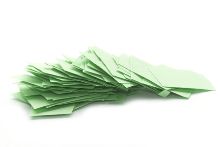 pile of paper scrap isolated on white Stock Photo - 17956050