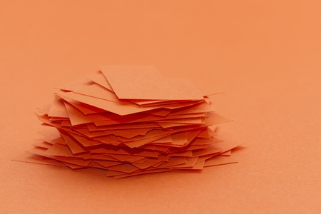 pile of paper scrap isolated on the same colour Stock Photo - 17956117