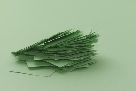 pile of paper scrap isolated on the same colour Stock Photo - 17956113