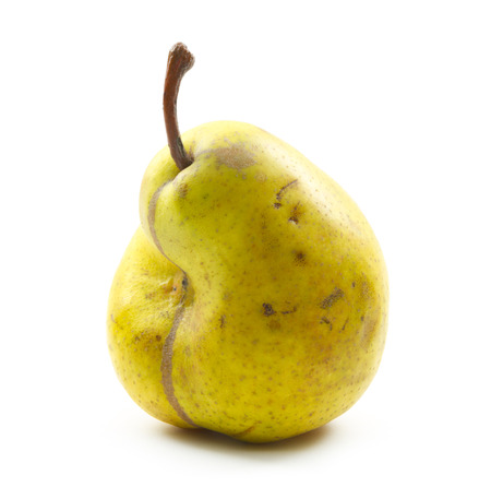 imperfect pear ripen pear isolated on white background