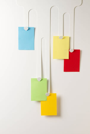 paper hanger: group paper colorful note hanging fluid hanger
