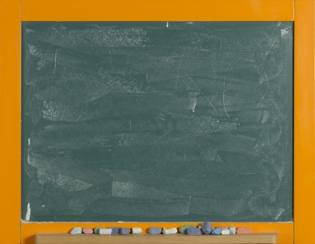 empty frame chalkboard colorful chalk