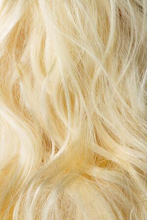 frizzy: blond frizzy hair fashion  Stock Photo