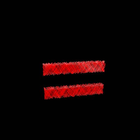 textual: red stylized woven ray bounce character isolated on black background