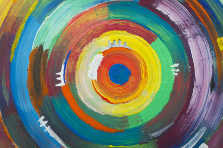 tempera: full frame art paintings wallpaper with colorful circles