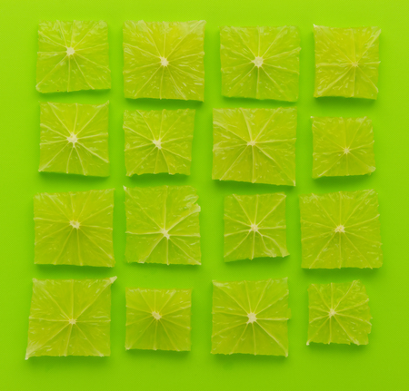 array: wallpaper of lime cut to square shape and arrange to array