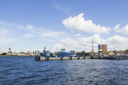 KLAIPEDA,LITHUANIA- SEPTEMBER 13, 2015. Views of the harbor on September 13,2015 in Klaipeda, Lithuania