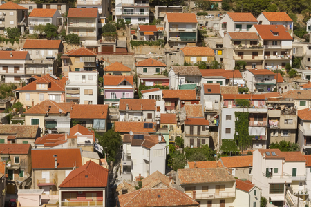 matrices: The roofs of Sibenik town, Croatia