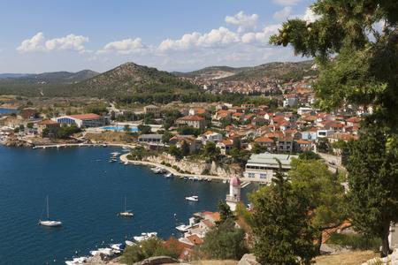 sea seaport: Seaport on the Adratic sea - Croatia, Sibenik