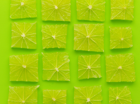 wallpaper of lime cut to square shape and arrange to array