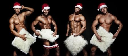 sexy santa: Sexy Santa Claus posing.