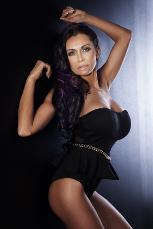 young breast: Fashion sensual woman posing Stock Photo