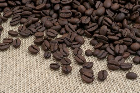 beige: coffee beans on a beige fabric