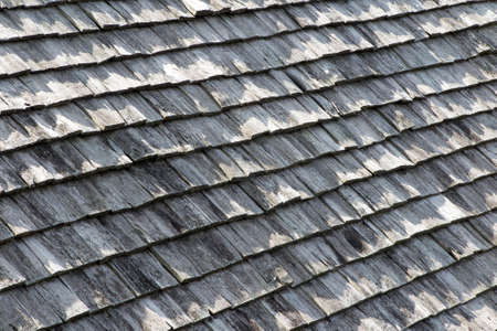 shingles: Old brown and grey wooden roof shingles