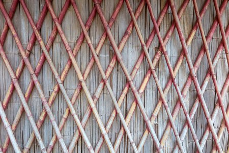 trapezoid: Cross bamboo wall texture background