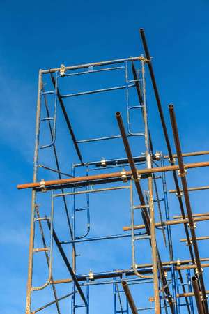 scaffold: scaffold in the construction site