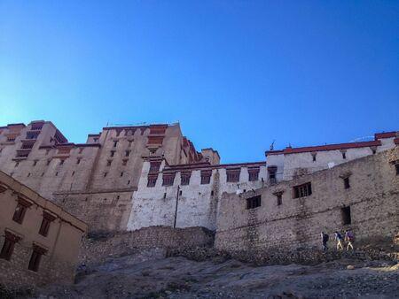 tibetan house: LEH, INDIA - JUL 10 : The Palace in Leh city, Ladakh, India on July 10, 2014
