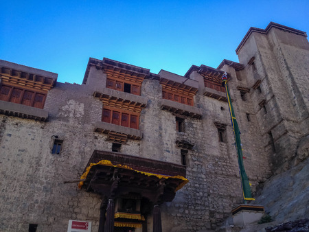architecture alphabet: LEH, INDIA - JUL 10 : The Palace in Leh city, Ladakh, India on July 10, 2014