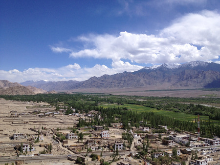 leh: Leh Ladakh City, India - Himalayas Stock Photo