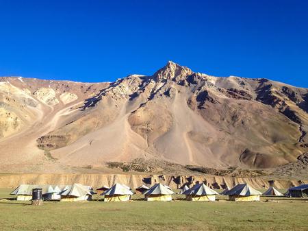 ladakh: Sarchu camp, Manali-Leh highway, Ladakh, India Stock Photo