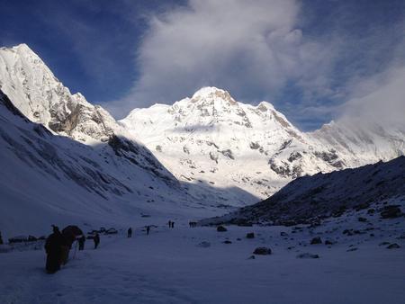 lofty: Annapurna Base Camp at the Annapurna South Mountain, Himalayas, Nepal