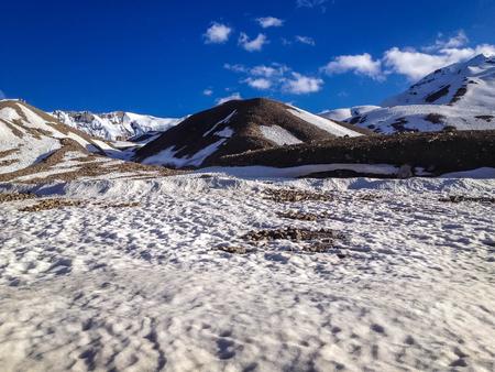 Manali - Sarchu camp - Leh, Ladakh highway road in India Stock Photo