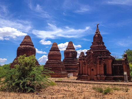 Temple and pagoda in Bagan, Myanmar Stock Photo