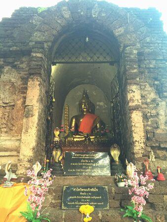 buddism: Jet yod temple at Chiang Mai, Thailand Stock Photo
