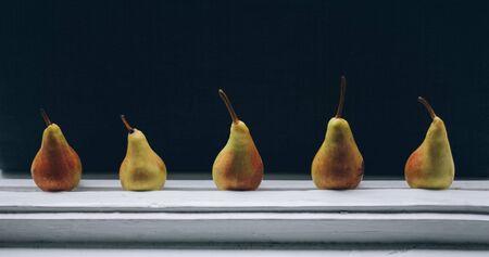 windowsill: Pears on window-sill