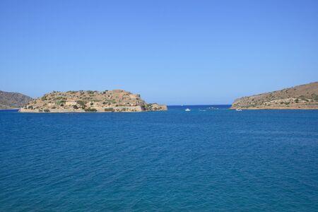 sufferer: Panorama of Spinalonga Island - island of lepers, Crete, Greece