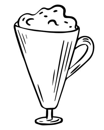 Coffee cup illustration, line art, vector. Coffee mug icon suitable for info graphics, websites and print media and interfaces.