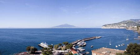Naples view from the Port of Sorrento Stock Photo - 370233