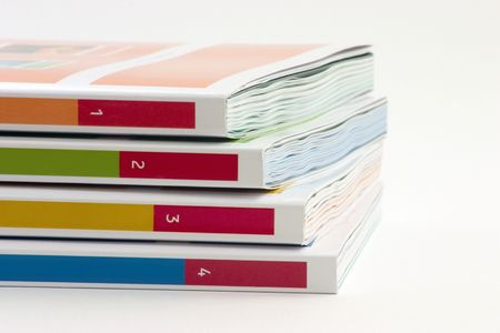 directory book: 4 books on a white background Stock Photo