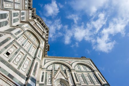 scenary: A view of the Santa Maria del Fiore Cathedral in Florence, Italy Stock Photo