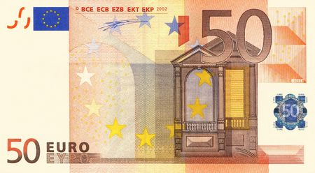 soldi euro: 50 Euro di legge Archivio Fotografico