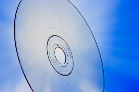 Disc closeup with blue background photo