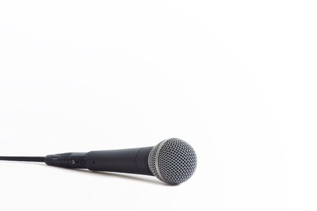 shure: Classic dynamic microphone on a white background