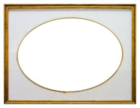 enclose: Oval frame isolated on white background